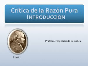 KANT PURA LA RAZON DE PDF CRITICA