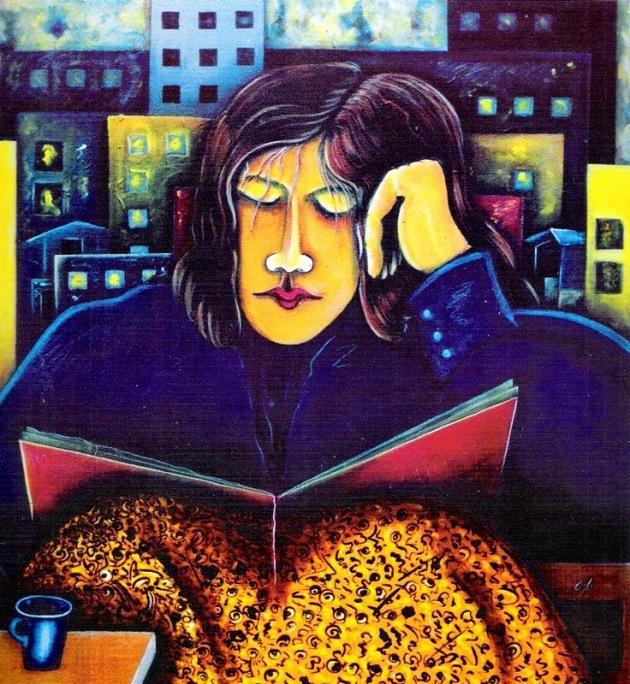 el-lector-acrilico-sobre-lienzo-100x100-cms-carlos-alberto-jimenez-cacique-pintor-colombiano
